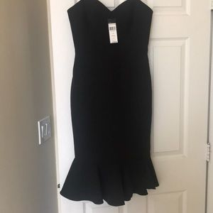 BCBG NWT Strapless Black Cocktail Dress
